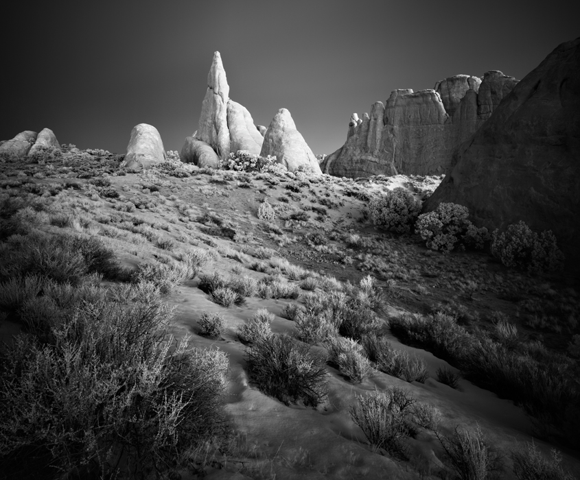 Moab: Black and White Landscape